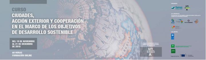FAMSI lanza en noviembre el curso 'Ciudades, acción exterior y cooperación en el marco de los Objetivos de Desarrollo Sostenible'